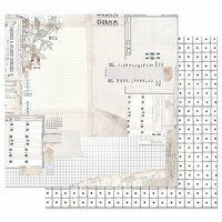 Prima - Pretty Pale Collection - 12 x 12 Double Sided Paper with Foil Accents - The Last Hour