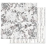 Prima - Pretty Pale Collection - 12 x 12 Double Sided Paper with Foil Accents - Colorless