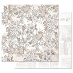 Prima - Pretty Pale Collection - 12 x 12 Double Sided Paper with Foil Accents - Pretty in Pale
