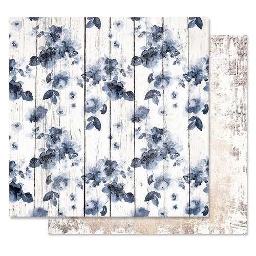 Prima - Georgia Blues Collection - 12 x 12 Double Sided Paper - The Watermark