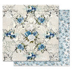 Prima - Georgia Blues Collection - 12 x 12 Double Sided Paper - Morning Glory