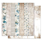 Prima - Georgia Blues Collection - 12 x 12 Double Sided Paper - Written Chapters