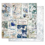 Prima - Georgia Blues Collection - 12 x 12 Double Sided Paper - Memory Lane