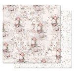 Prima - Lavender Frost Collection - 12 x 12 Double Sided Paper - The Road To You