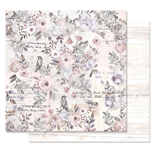 Prima - Lavender Frost Collection - 12 x 12 Double Sided Paper - Finding The Way