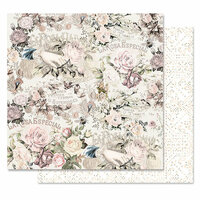 Prima - Lavender Frost Collection - 12 x 12 Double Sided Paper - Royal Bidding