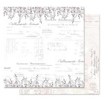 Prima - Lavender Frost Collection - 12 x 12 Double Sided Paper - My Confession