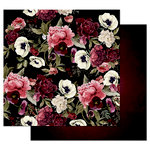 Prima - Midnight Garden Collection - 12 x 12 Double Sided Paper with Foil Accents - Midnight Garden