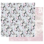 Prima - Poetic Rose Collection - 12 x 12 Double Sided Paper with Foil Accents - Buzz Words