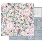 Prima - Poetic Rose Collection - 12 x 12 Double Sided Paper with Foil Accents - Royal Command