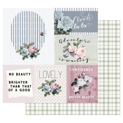 Prima - Poetic Rose Collection - 12 x 12 Double Sided Paper with Foil Accents - Mixed Feelings