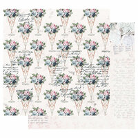 Prima - Poetic Rose Collection - 12 x 12 Double Sided Paper with Foil Accents - Sweet Taste