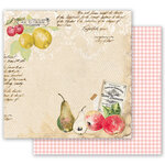 Prima - Fruit Paradise Collection - 12 x 12 Double Sided Paper - Sweet And Citrus with Foil Accents