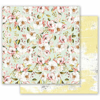 Prima - Fruit Paradise Collection - 12 x 12 Double Sided Paper - Blooming Season with Foil Accents