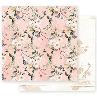 Prima - Apricot Honey Collection - 12 x 12 Double Sided Paper with Foil Accents - Apricot Honey