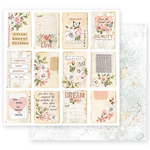 Prima - Apricot Honey Collection - 12 x 12 Double Sided Paper with Foil Accents - Happiness Looks Good On You