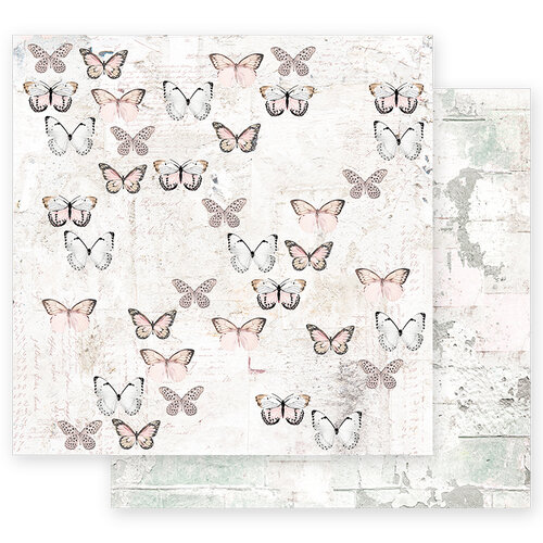 Prima - Apricot Honey Collection - 12 x 12 Double Sided Paper with Foil Accents - All Together