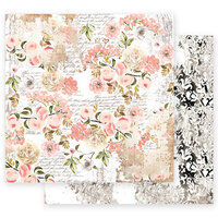 Prima - Apricot Honey Collection - 12 x 12 Double Sided Paper with Foil Accents - Sweet Apricots