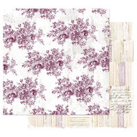 Prima - Pretty Mosaic Collection - 12 x 12 Double Sided Paper with Foil Accents - Floral Toile