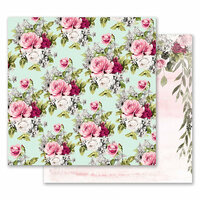 Prima - Misty Rose Collection - 12 x 12 Double Sided Paper - Flowers for Her with Foil Accents