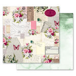 Prima - Misty Rose Collection - 12 x 12 Double Sided Paper - Scented Love Letters with Foil Accents