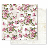 Prima - Misty Rose Collection - 12 x 12 Double Sided Paper - The Memorable Floral Wall with Foil Accents