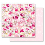 Prima - Misty Rose Collection - 12 x 12 Double Sided Paper - Scattered Dreams with Foil Accents