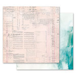 Prima - Misty Rose Collection - 12 x 12 Double Sided Paper - The Untold Story with Foil Accents