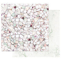 Prima - Pretty Mosaic Collection - 12 x 12 Double Sided Paper with Foil Accents - Pretty Mosaic