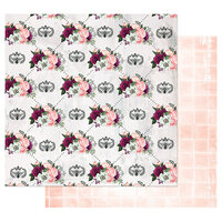 Prima - Pretty Mosaic Collection - 12 x 12 Double Sided Paper with Foil Accents - Queen Bee