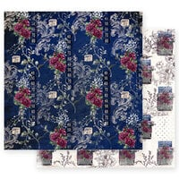 Prima - Darcelle Collection - 12 x 12 Double Sided Paper - Walking Alone with Foil Accents