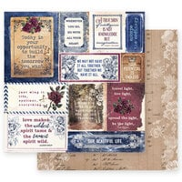 Prima - Darcelle Collection - 12 x 12 Double Sided Paper - The Biggest Step of Your Life with Foil Accents