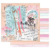 Prima - Surfboard Collection - 12 x 12 Double Sided Paper with Foil Accents - Sun & Fun