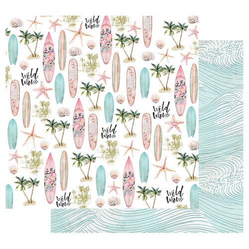 Prima - Surfboard Collection - 12 x 12 Double Sided Paper with Foil Accents - Wild Wave