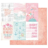 Prima - Surfboard Collection - 12 x 12 Double Sided Paper with Foil Accents - Relax, Unwind, Enjoy