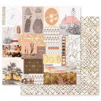 Prima - Golden Desert Collection - 12 x 12 Double Sided Paper - My Peaceful Place