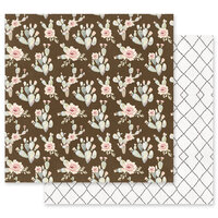 Prima - Golden Desert Collection - 12 x 12 Double Sided Paper - Desert Blooming