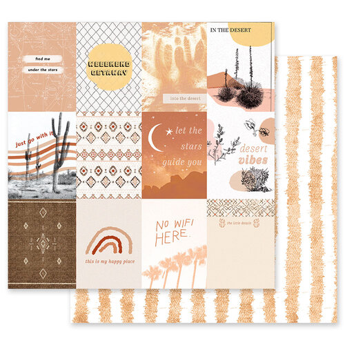Prima - Golden Desert Collection - 12 x 12 Double Sided Paper - Just Go With It