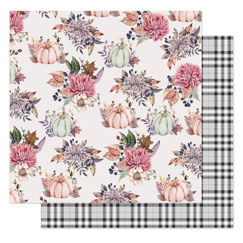 Prima - Hello Pink Autumn Collection - 12 x 12 Double Sided Paper - Hello Autumn