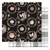 Prima - Hello Pink Autumn Collection - 12 x 12 Double Sided Paper - Give Thanks