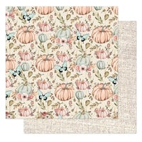 Prima - Hello Pink Autumn Collection - 12 x 12 Double Sided Paper - Happy Fall
