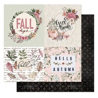 Prima - Hello Pink Autumn Collection - 12 x 12 Double Sided Paper - Fall Hugs