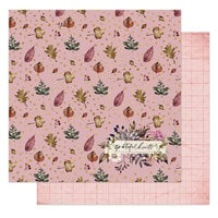 Prima - Hello Pink Autumn Collection - 12 x 12 Double Sided Paper - Grateful Hearts