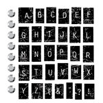 Prima - Clear Acrylic Stamps and Self Adhesive Jewels - Imprint Mini Alphabet, BRAND NEW