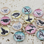 Prima - Pebbles Collection - Self Adhesive Pebbles - Wings, BRAND NEW