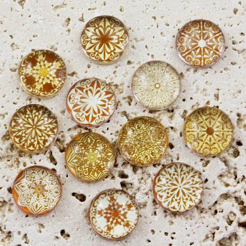 Prima - Pebbles Collection - Self Adhesive Pebbles - Sepia Mumbai, BRAND NEW