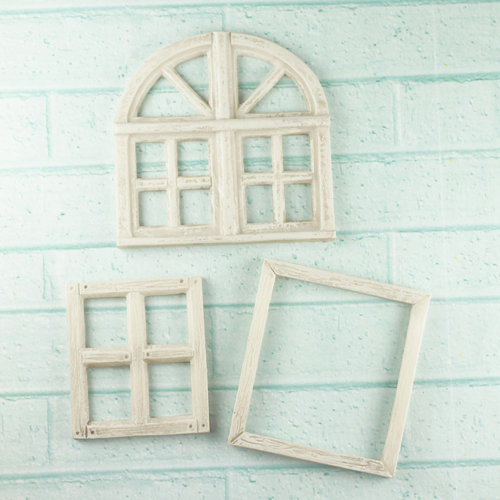 Prima - Architecture Collection - Resin Embellishments - Window Frame