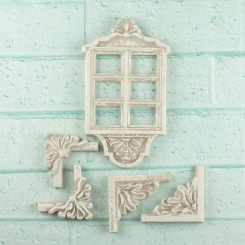 Prima - Architecture Collection - Resin Embellishments - Window Decor