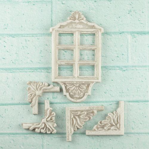 Prima - Architecture Collection - Resin Embellishments - Window Decor