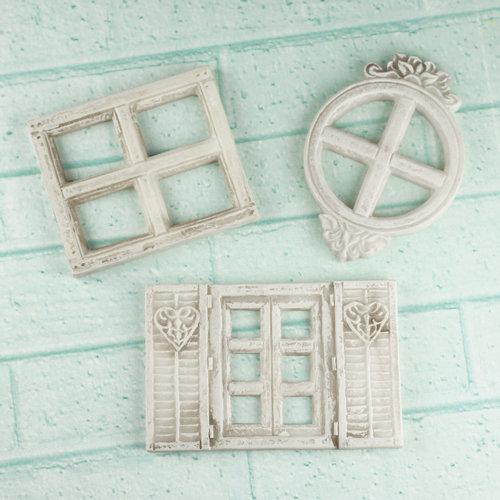 Prima - Architecture Collection - Resin Embellishments - Mini Windows